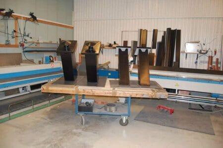 Pipebeslag og andre produkter fra et blikkenslagerverksted, Valdres Tak og Blikk AS