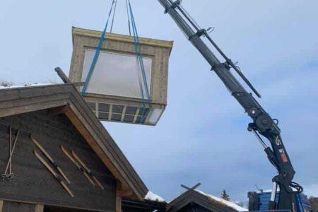 Transport og flytting av mindre bygg