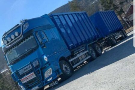 Containertransport i Valdres