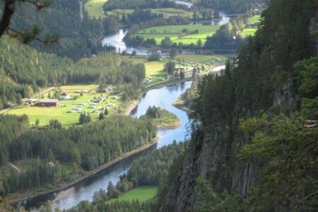 Morudstranda kolonicamping langs Begna i Sør-Aurdal