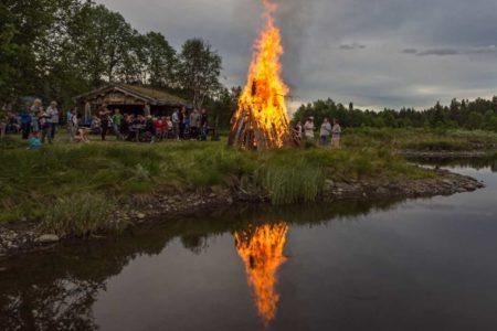 Vasetdansen camping, bål